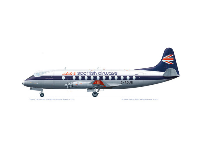 Vickers Viscount 802 BEA Scottish Airways