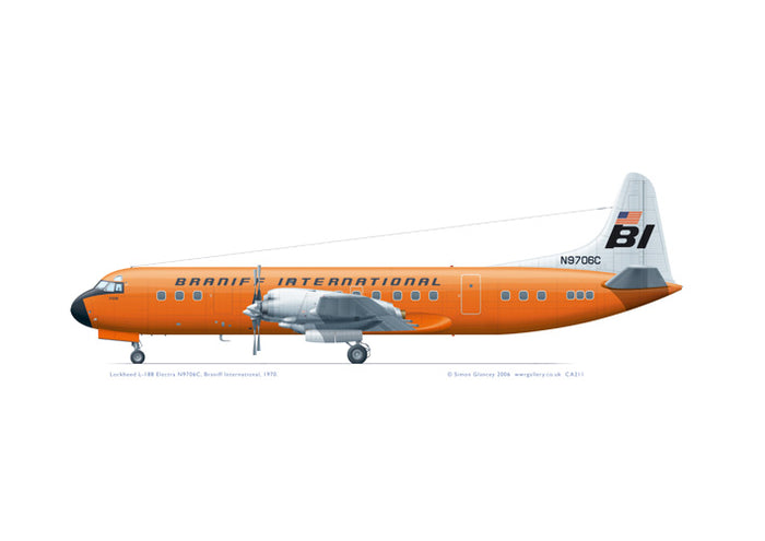 Lockheed L-188 Electra Braniff Int'l ORANGE