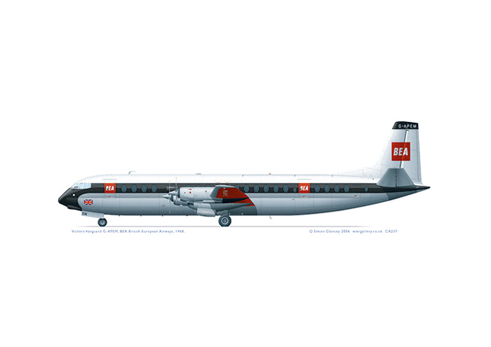 Vickers Vanguard BEA 1968