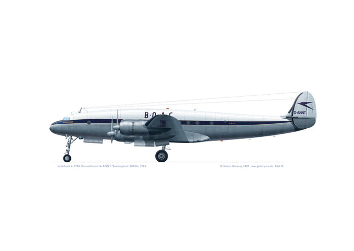 Lockheed L-749 Constellation BOAC 1953