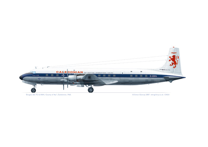 Douglas DC-7C Caledonian Airways