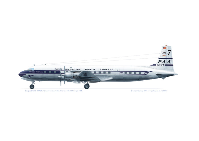 Douglas DC-7C Pan American World Airways 1958