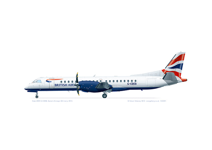 SAAB 2000 British Airways (Eastern Airways)