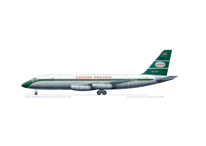 Convair 880 Cathay Pacific