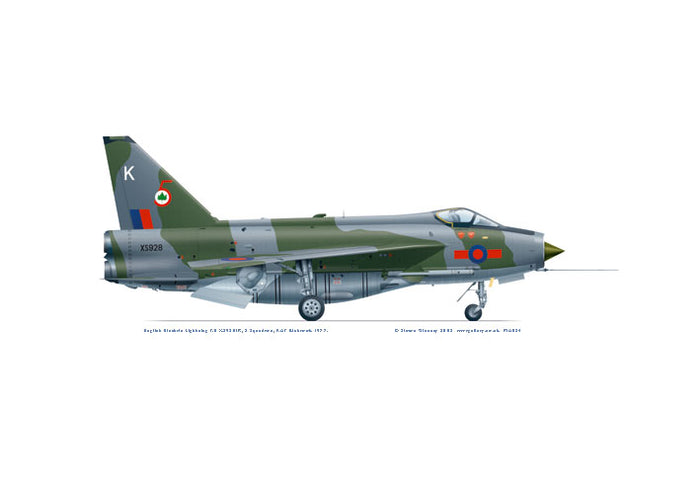 English Electric Lightning F.6 5 Sqn 1977