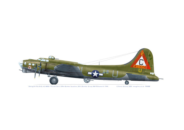 Boeing B-17G-25-DL 42-38050 'Thunder Bird'