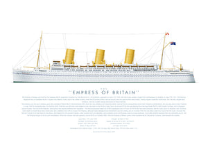 R.M.S. Empress of Britain print
