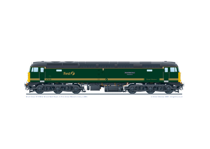 Class 47 47816 'Bristol Bath Road – Quality Approved'