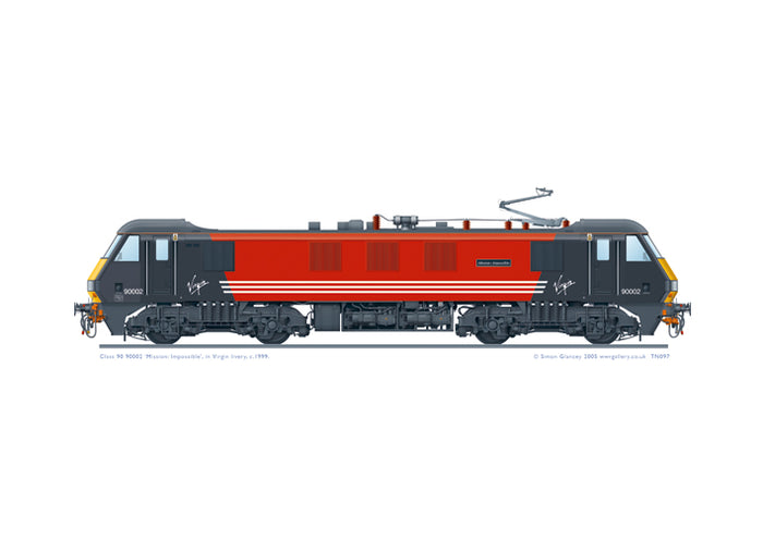 Class 90 90002 'Mission:Impossible'