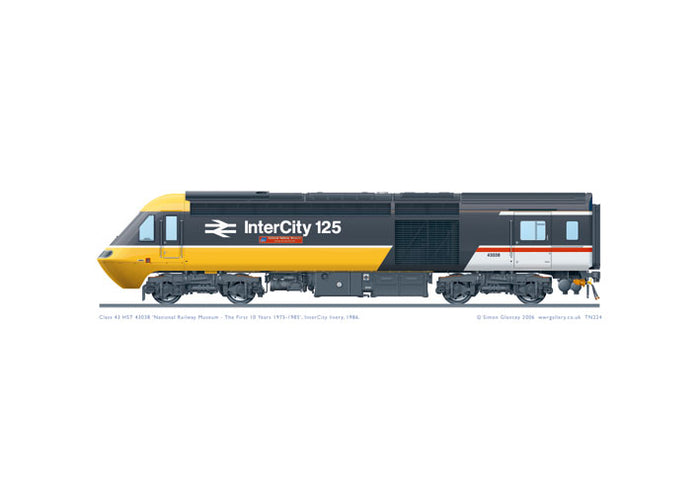 Class 43 HST 43038 'NRM - The First 10 Years'