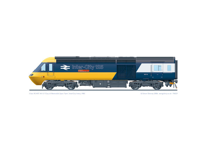 Class 43 HST 43113 'City of Newcastle upon Tyne'