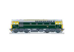 Class 33 Crompton D6566 green with full yellow ends