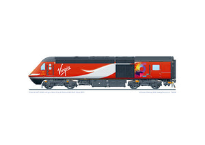 Class 43 HST 43295 Virgin Trains Perth City of Culture bid branding
