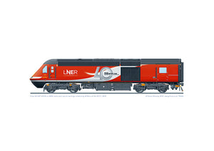 Class 43 HST 43318 LNER 40 years of the HST livery