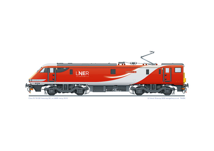 Class 91 91128 'Intercity 50' of LNER