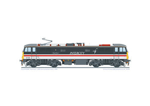 Class 87 locomotive 87001 'Royal Scot' in BR Intercity Swallow livery, from 1994