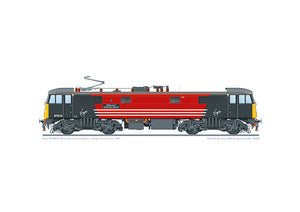 A3 print of Virgin Trains locomotive 87016 'Willesden Intercity Depot' from 1997.