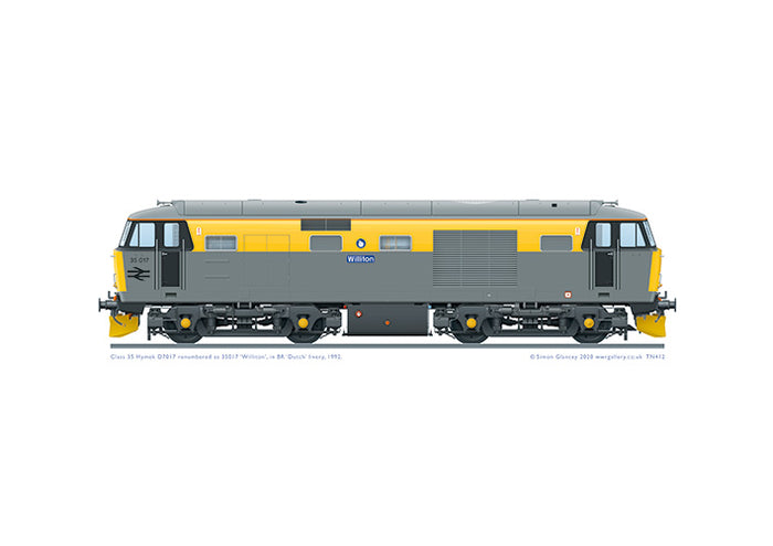 Class 35 Hymek D7017 as '35017' in retro BR 'Dutch' livery.