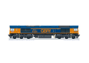 GB Railfreight Class 66 locomotive 66775 HMS Argyll