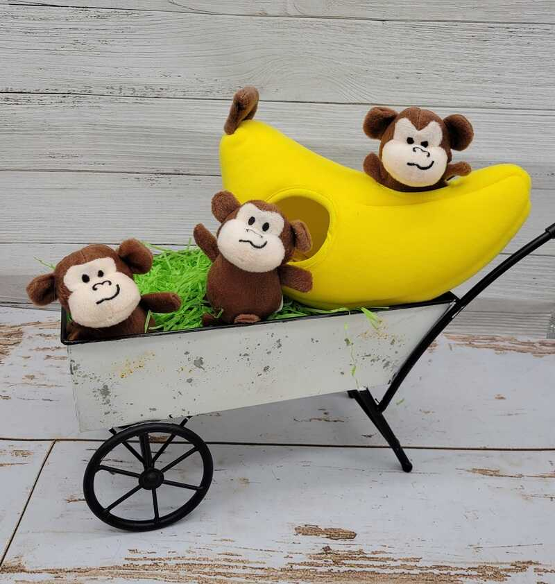 Burrow Toy Monkey and Bananas