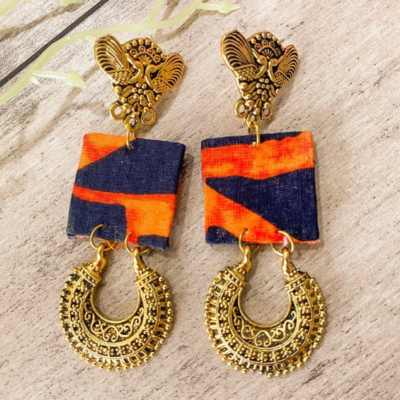 AFW Orange Handmade Earrings (M) - ayaanadivine.