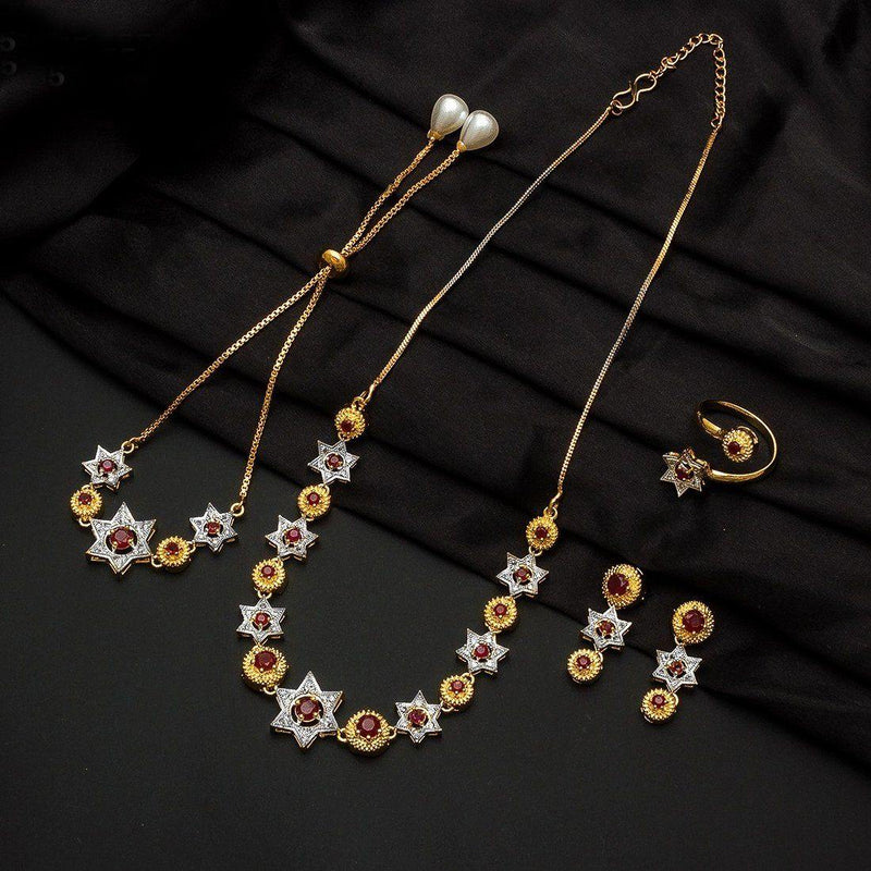 AFW Stunning Star Necklace Set - ayaanadivine.