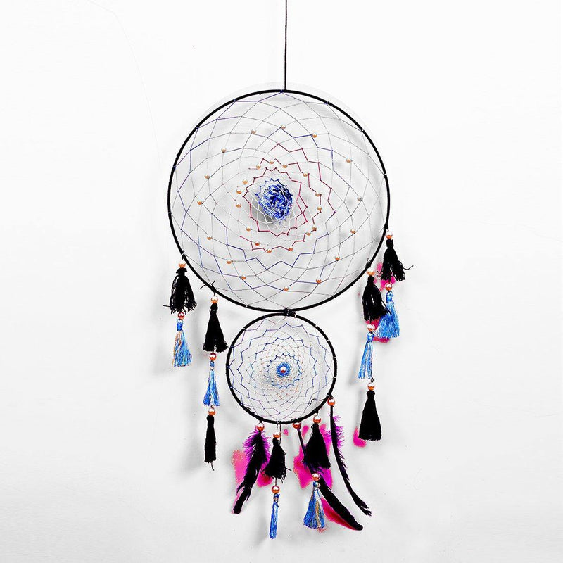 Black Ring Shaded Blue Web Dreamcatcher - ayaanadivine.