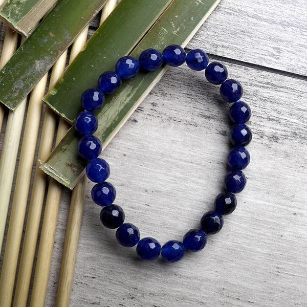 Blue  Onyx  Faceted Bracelet - ayaanadivine.