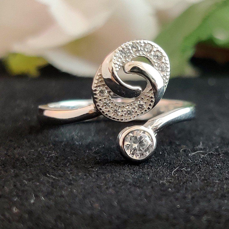 Charm Around 925 Sterling Silver Ring - ayaanadivine.