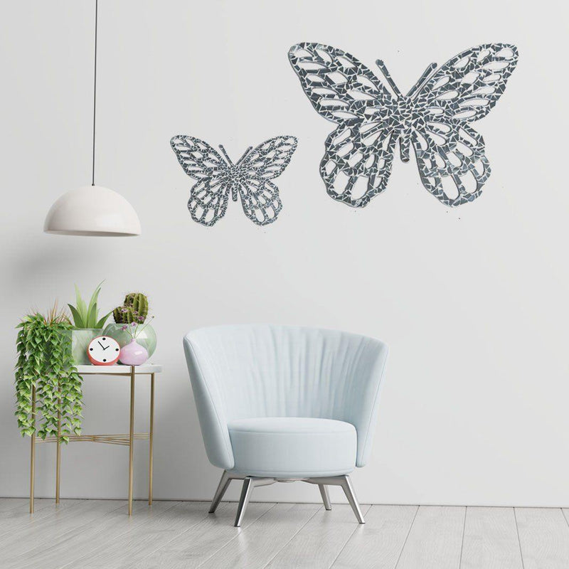 Cutwork Butterflies (Set of 2) - ayaanadivine.