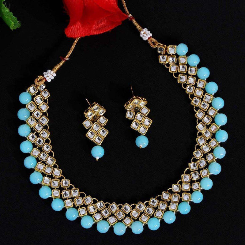 Dazzling Blue Necklace Set - ayaanadivine.