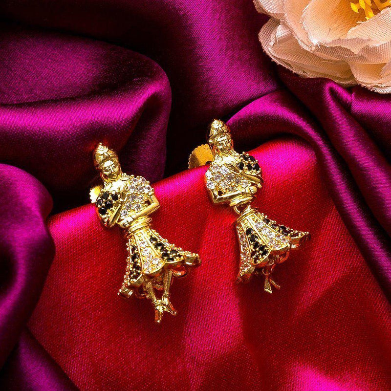 Ebony Dancing Dolls Earrings - ayaanadivine.