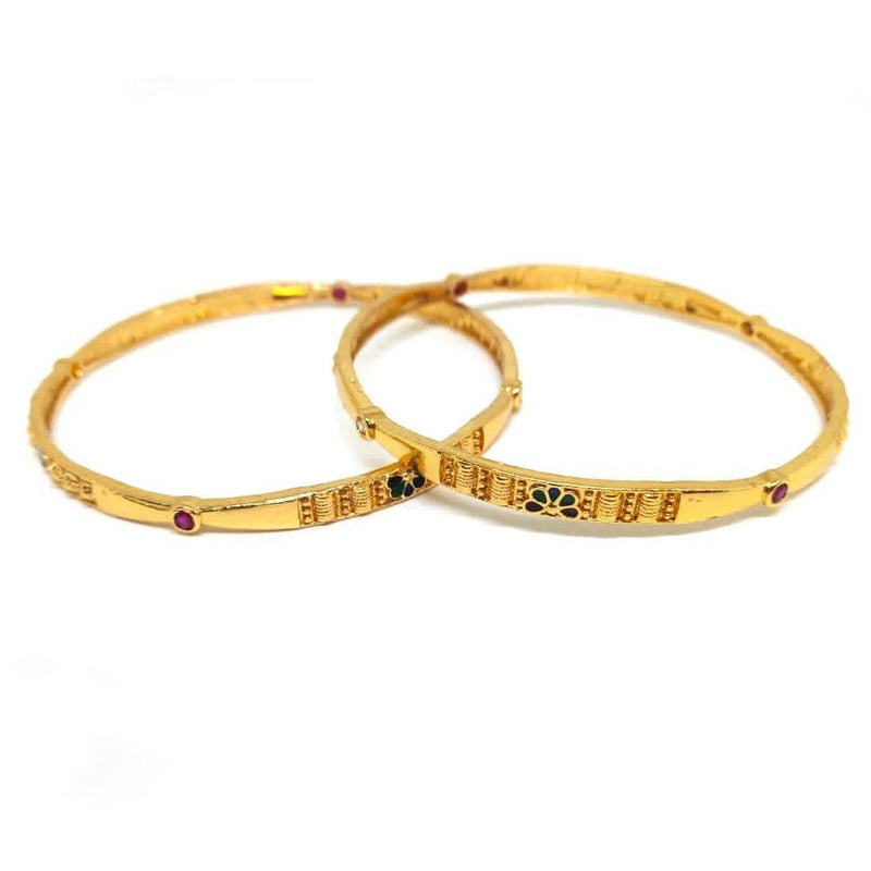 Floral Bangle Set (N) - ayaanadivine.
