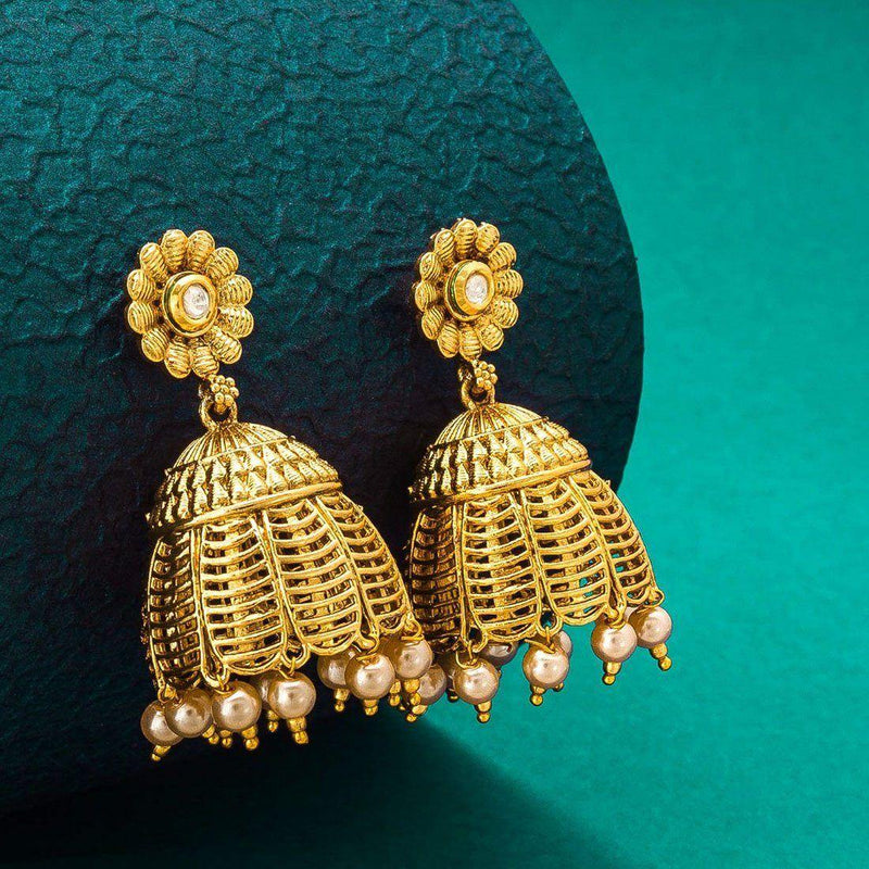 Floral Jumkha Earrings - ayaanadivine.