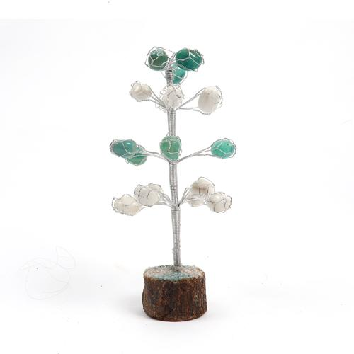 Green + White Agate Pebbles Tree - ayaanadivine.