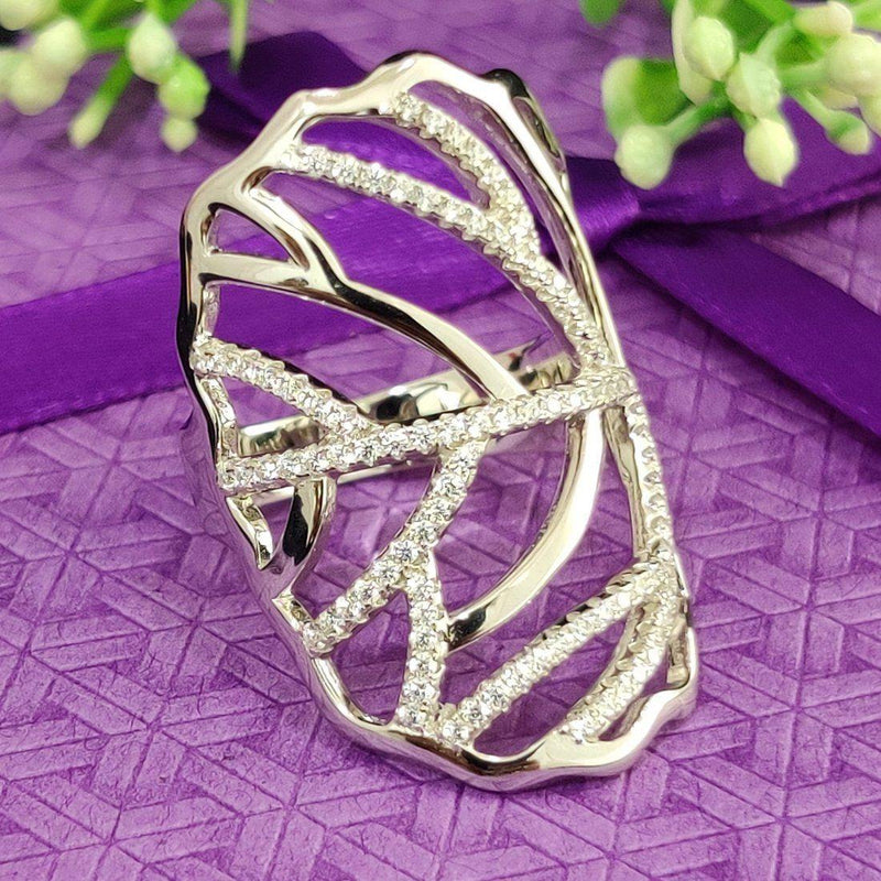 Luring Leafy Beauty Sterling Silver ring - ayaanadivine.
