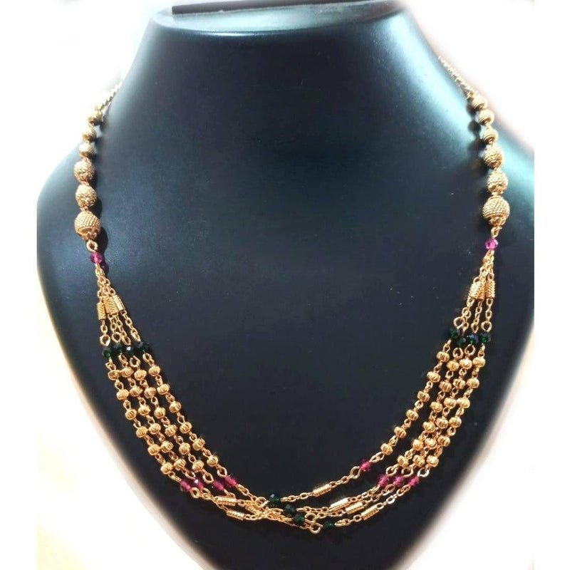Multi Layer Beaded Necklace (N) - ayaanadivine.