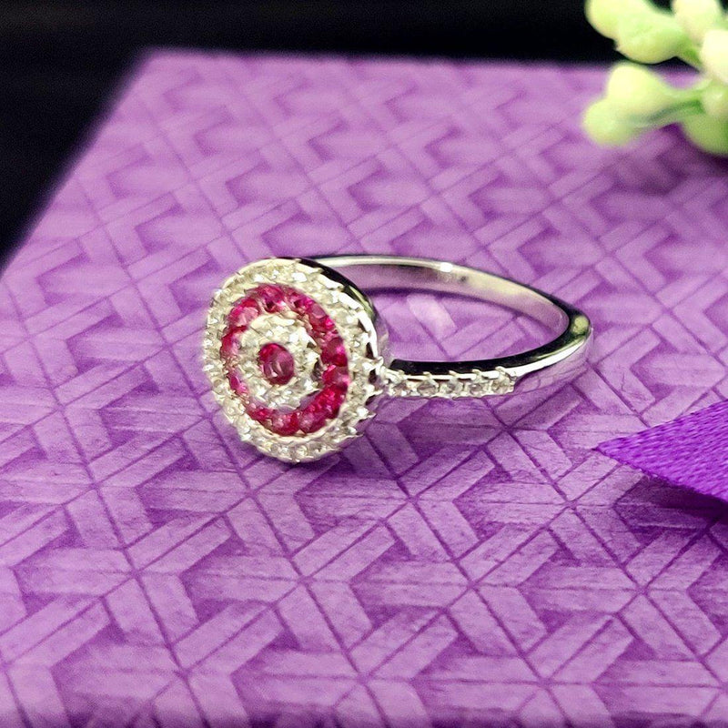Pink Queen Sterling Silver Ring - ayaanadivine.