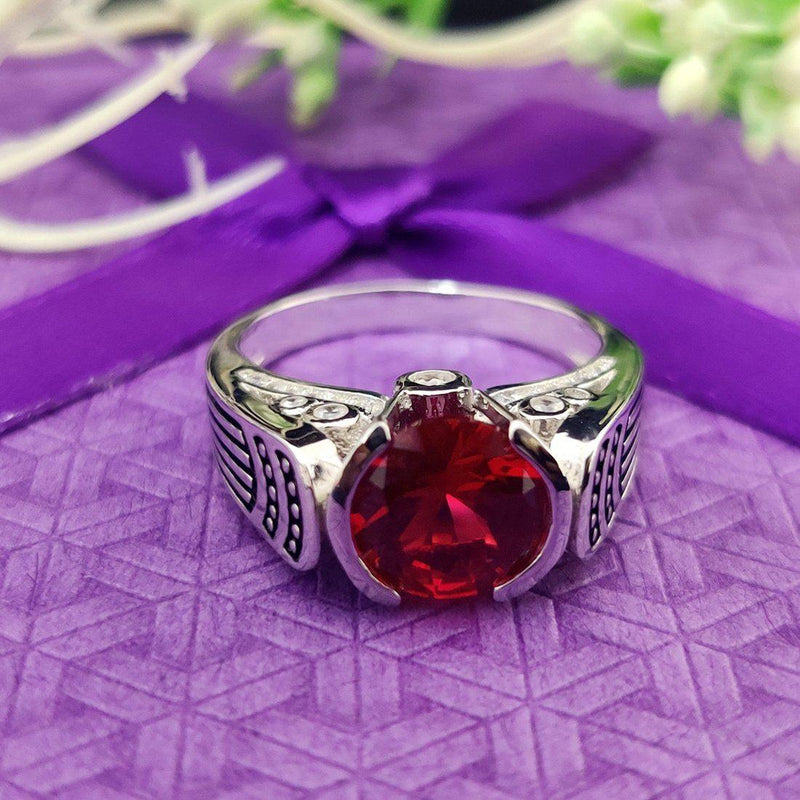 Red Grace 925 Sterling Silver Ring - ayaanadivine.