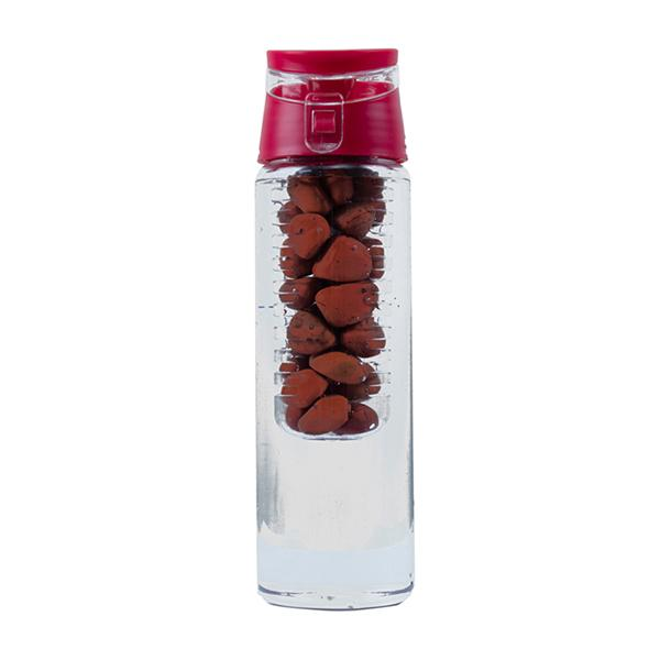 Red Jasper  Pebbles  Water Bottle - ayaanadivine.