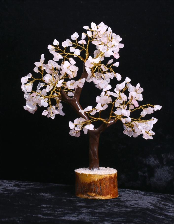 Rose Quartz Tree with 300 Beads - ayaanadivine.