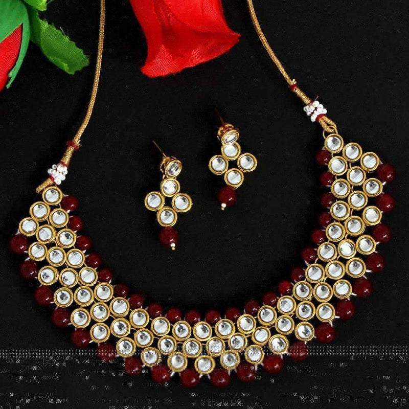 Ruby Woo Necklace Set - ayaanadivine.