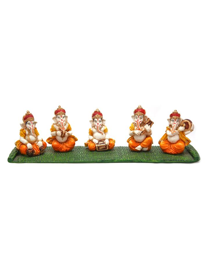 Toys League Musical Ganesha Set (Set of 5 pcs) - ayaanadivine.