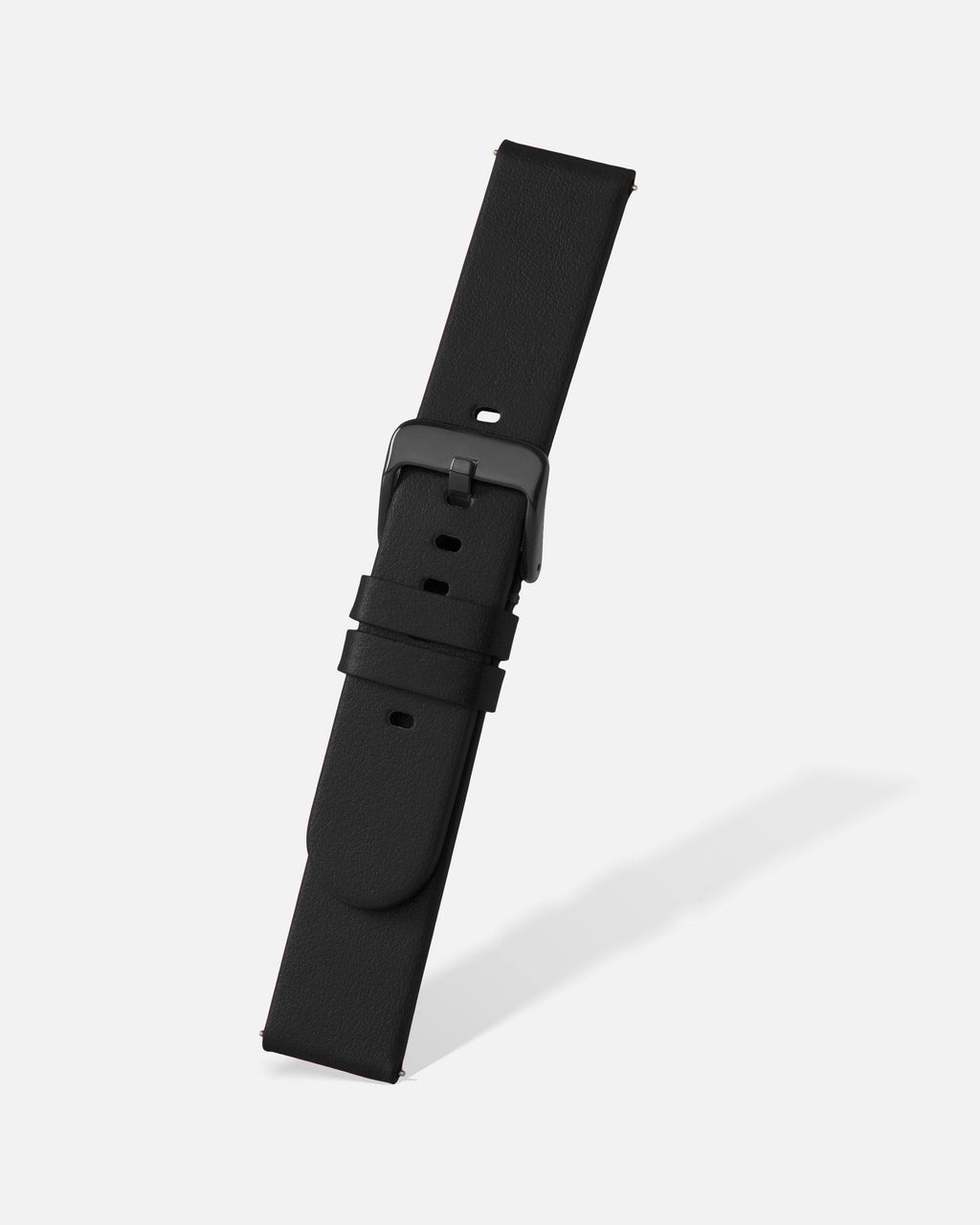 Black Smooth Appleskin Watch Band