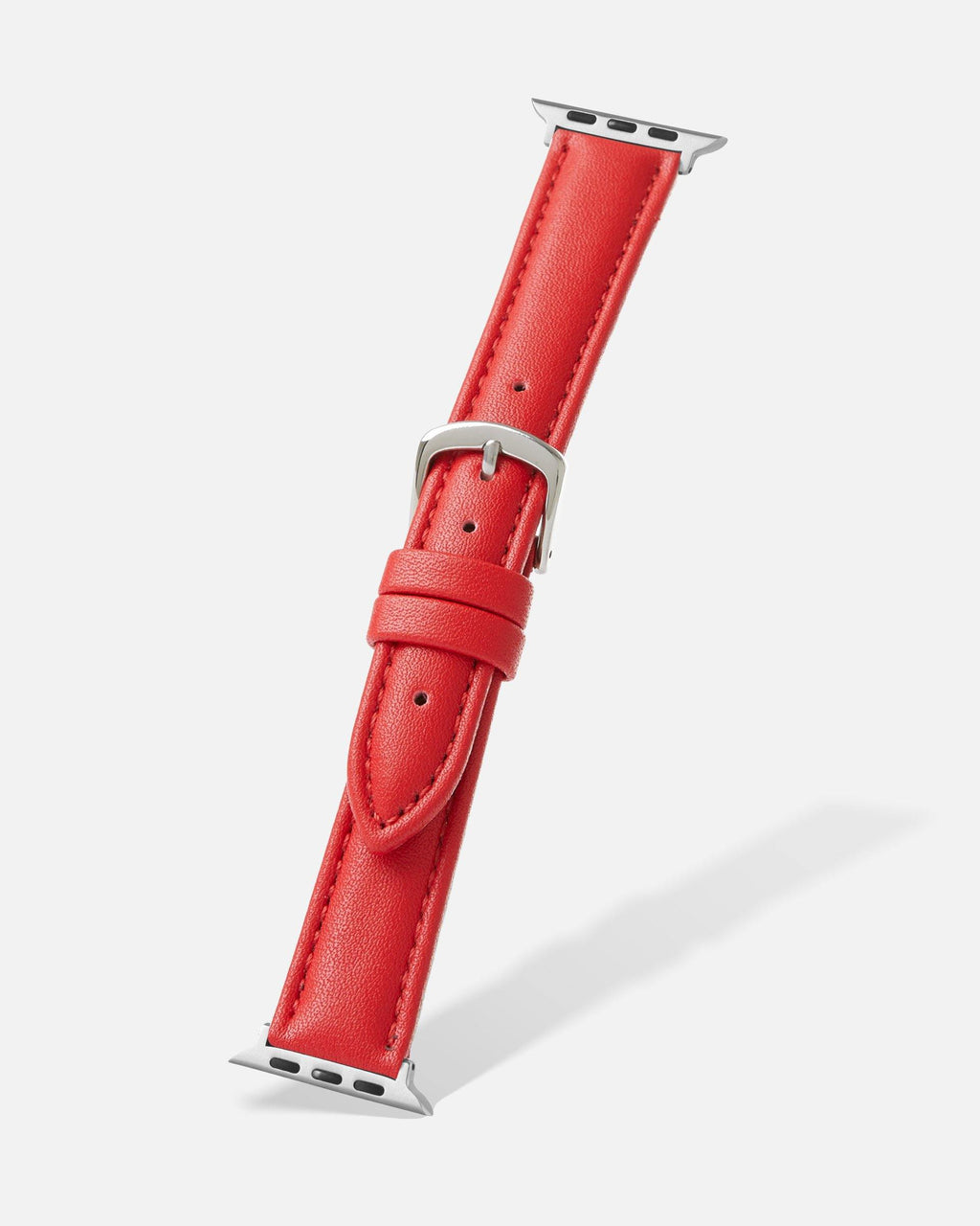 Red Genuine Microfiber Apple Watch Band