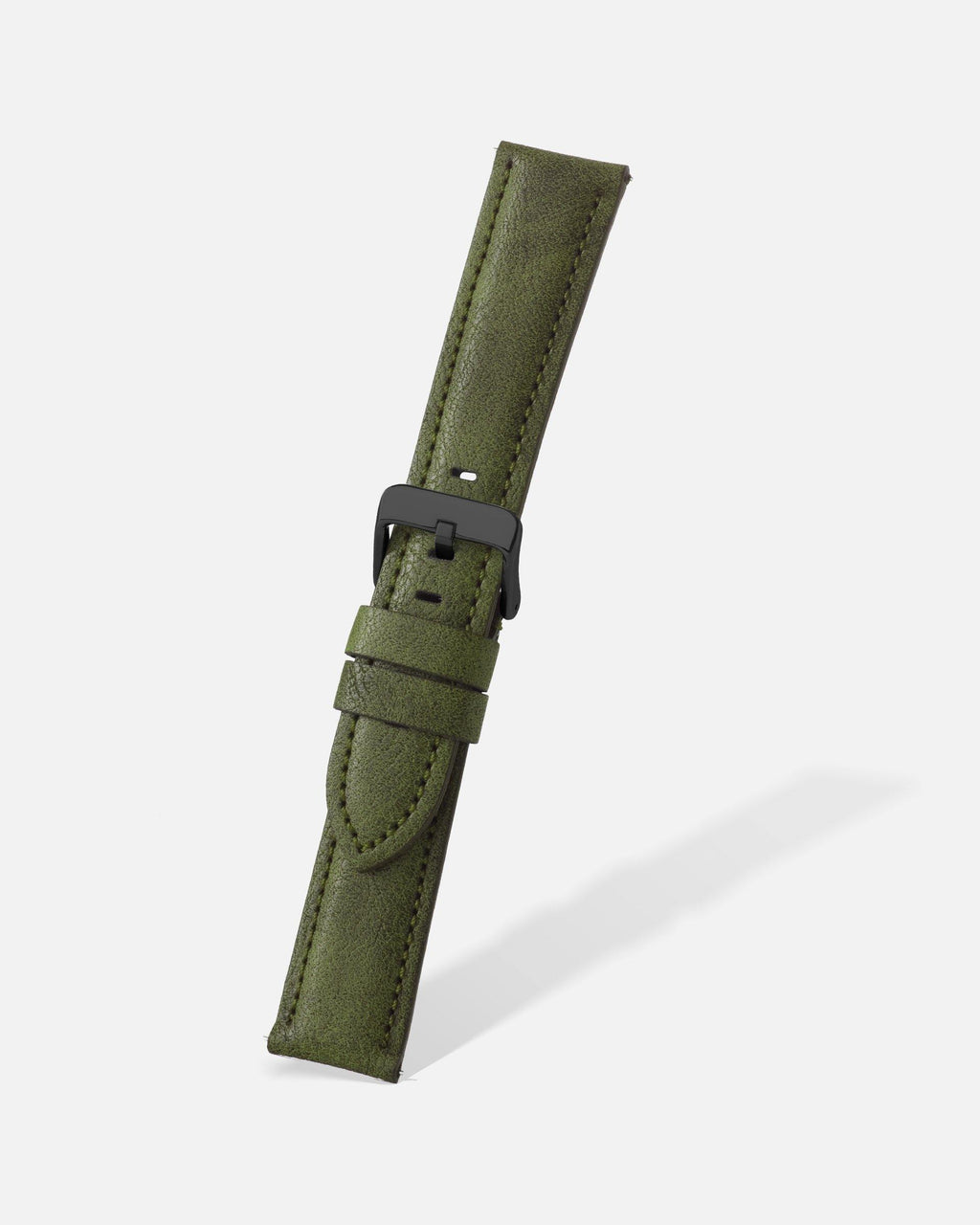 Green Vintage Microfiber Watch Band
