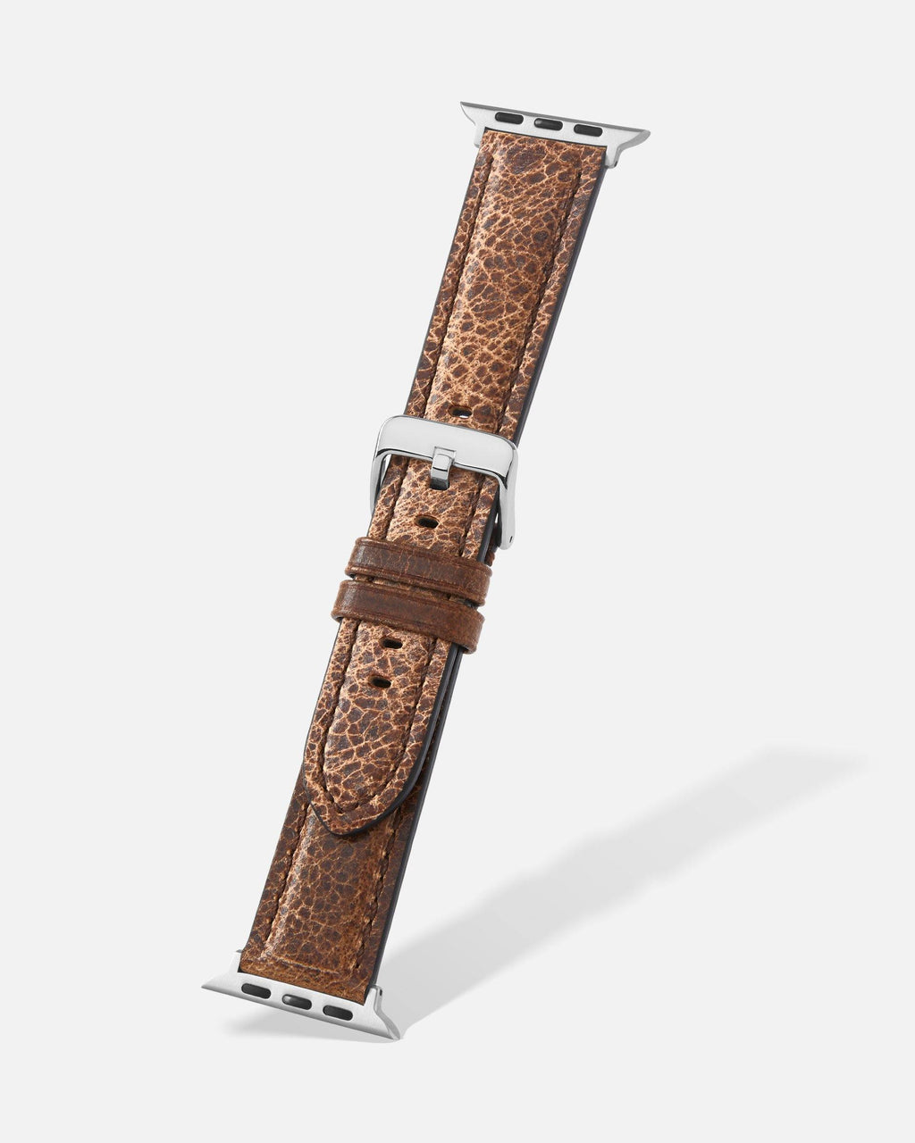 Brown Grizzly Grain Leather Apple Watch Band