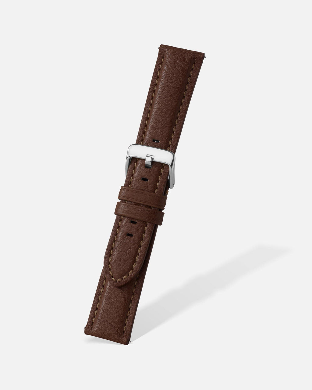 Brown Bison Grain Leather Watch Band