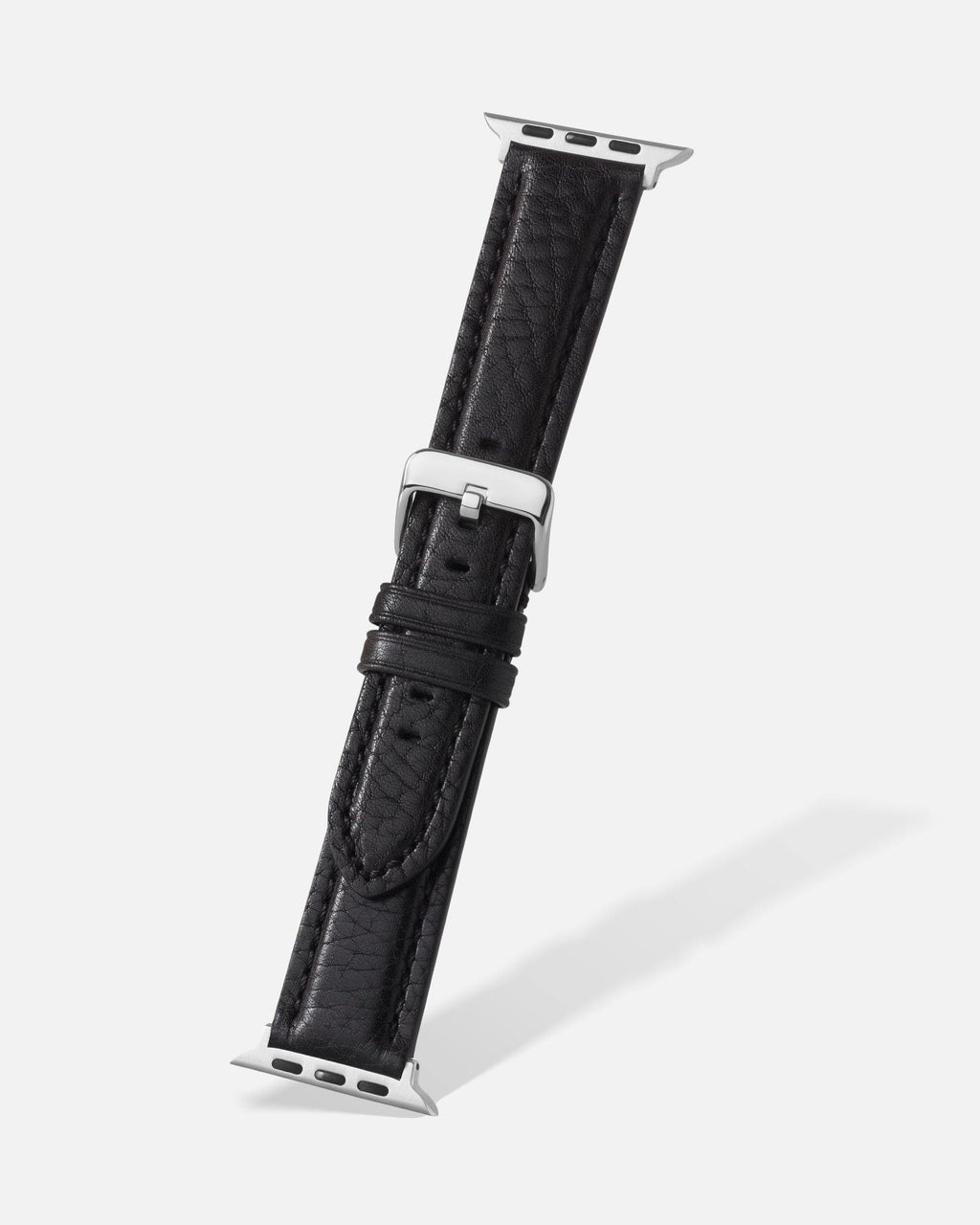 Black Bison Grain Leather Apple Watch Band