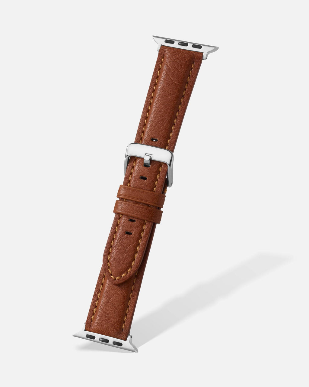Tan Bison Grain Leather Apple Watch Band